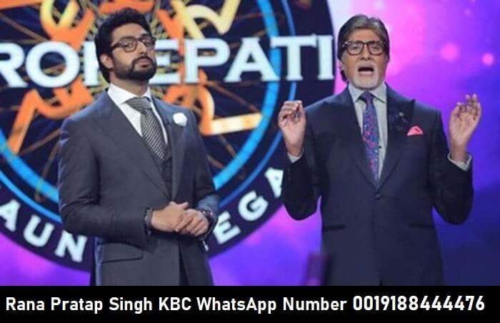 Rana Pratap Singh KBC WhatsApp Number