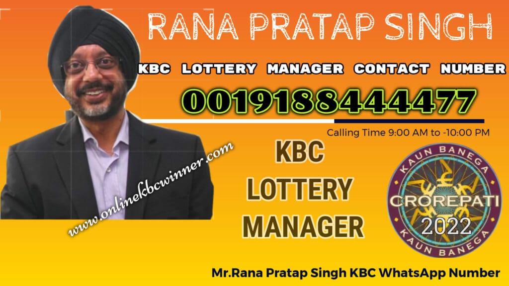 rana pratap singh kbc contact number